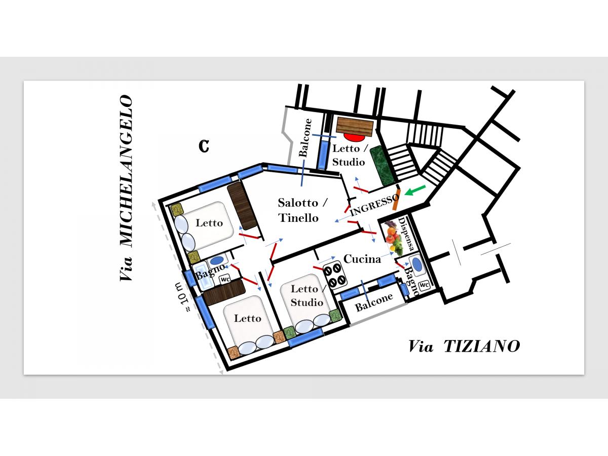 Appartamento in vendita in via Michelangelo 88 zona Centro a Pescara - 7914050 foto 12