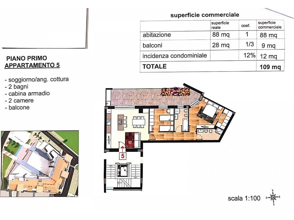 Appartamento in vendita in via vestina mare  a Cappelle sul Tavo - 1721581 foto 9
