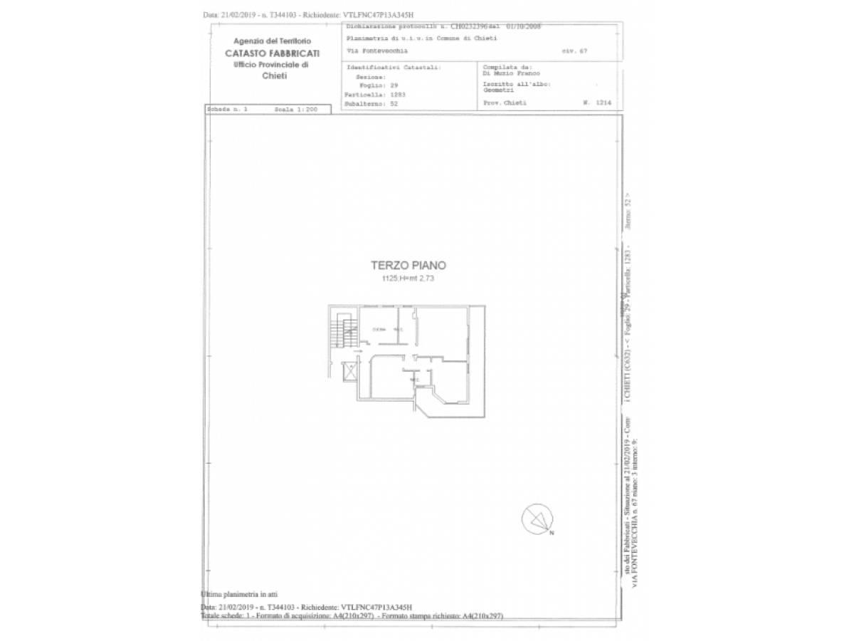 Appartamento in vendita in Via Fonte Vecchia,67 zona S. Maria - Arenazze a Chieti - 5876476 foto 20