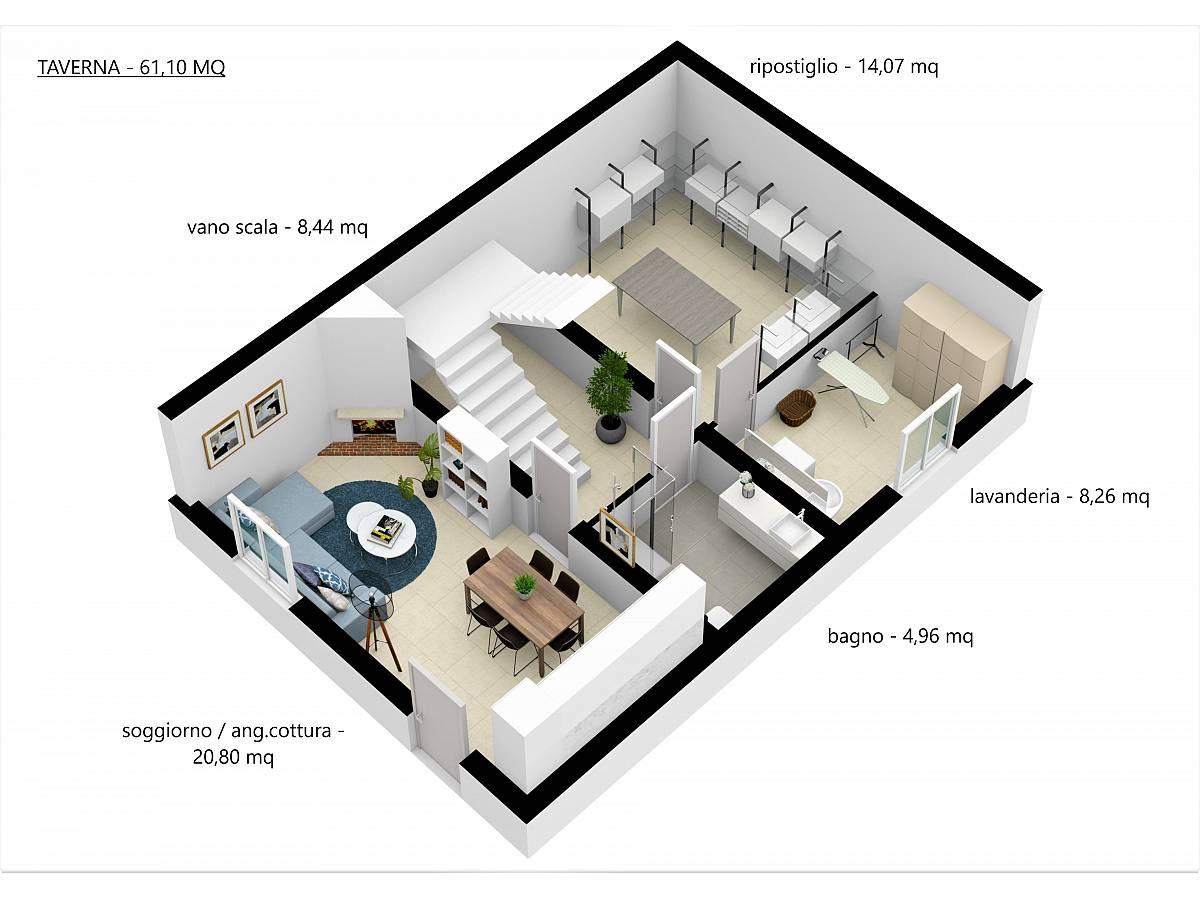 Villa a schiera in vendita in Via E. Berlinquer 26  a Loreto Aprutino - 3029384 foto 17