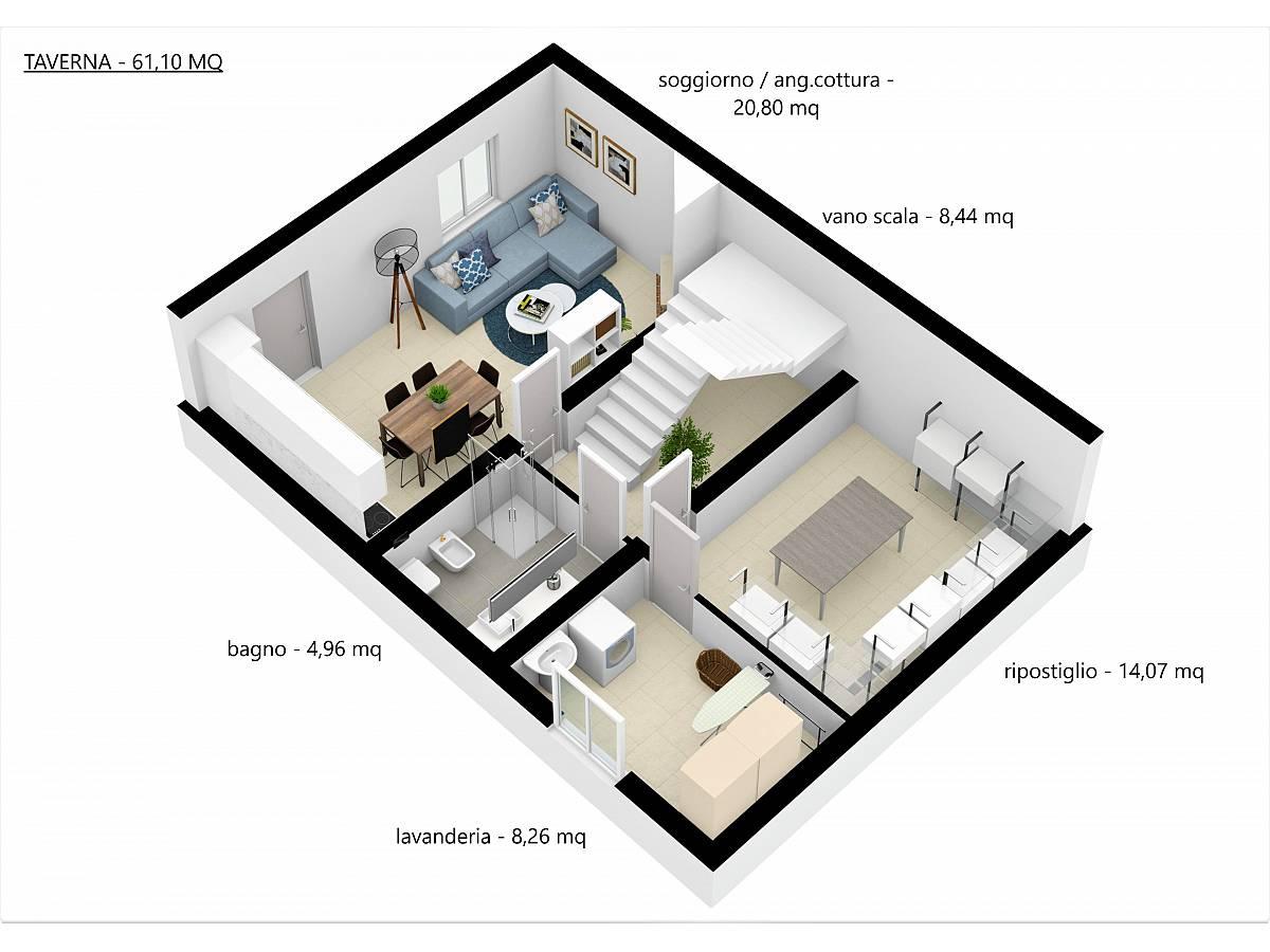 Villa a schiera in vendita in Via E. Berlinquer 26  a Loreto Aprutino - 3029384 foto 18