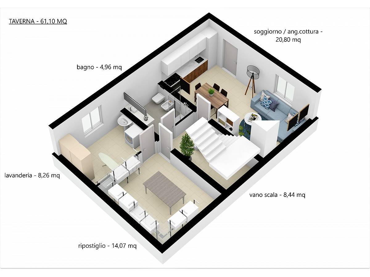 Villa a schiera in vendita in Via E. Berlinquer 26  a Loreto Aprutino - 3029384 foto 19
