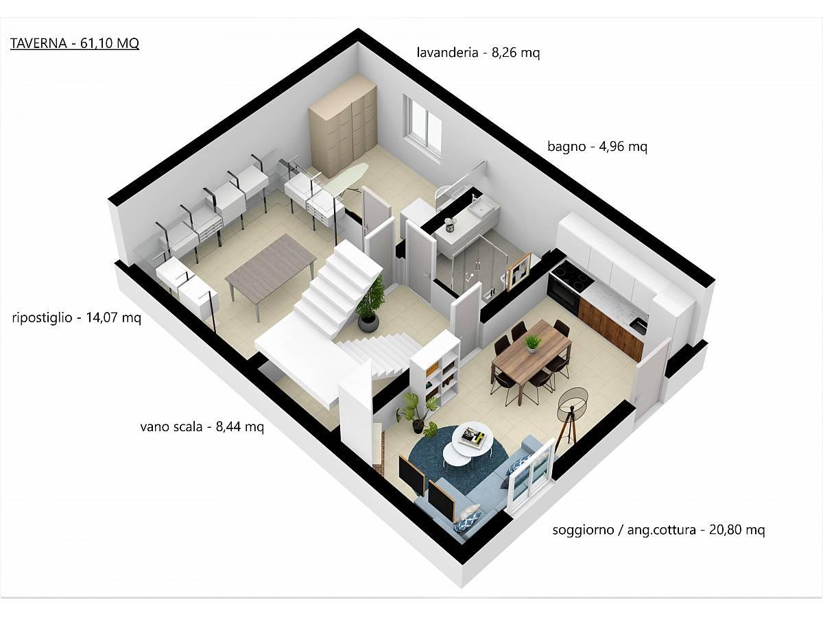 Villa a schiera in vendita in Via E. Berlinquer 26  a Loreto Aprutino - 3029384 foto 20