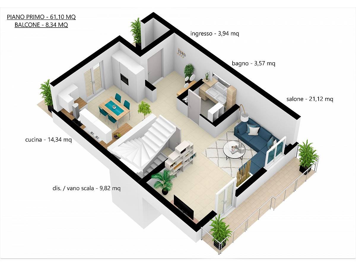 Villa a schiera in vendita in Via E. Berlinquer 26  a Loreto Aprutino - 3029384 foto 23