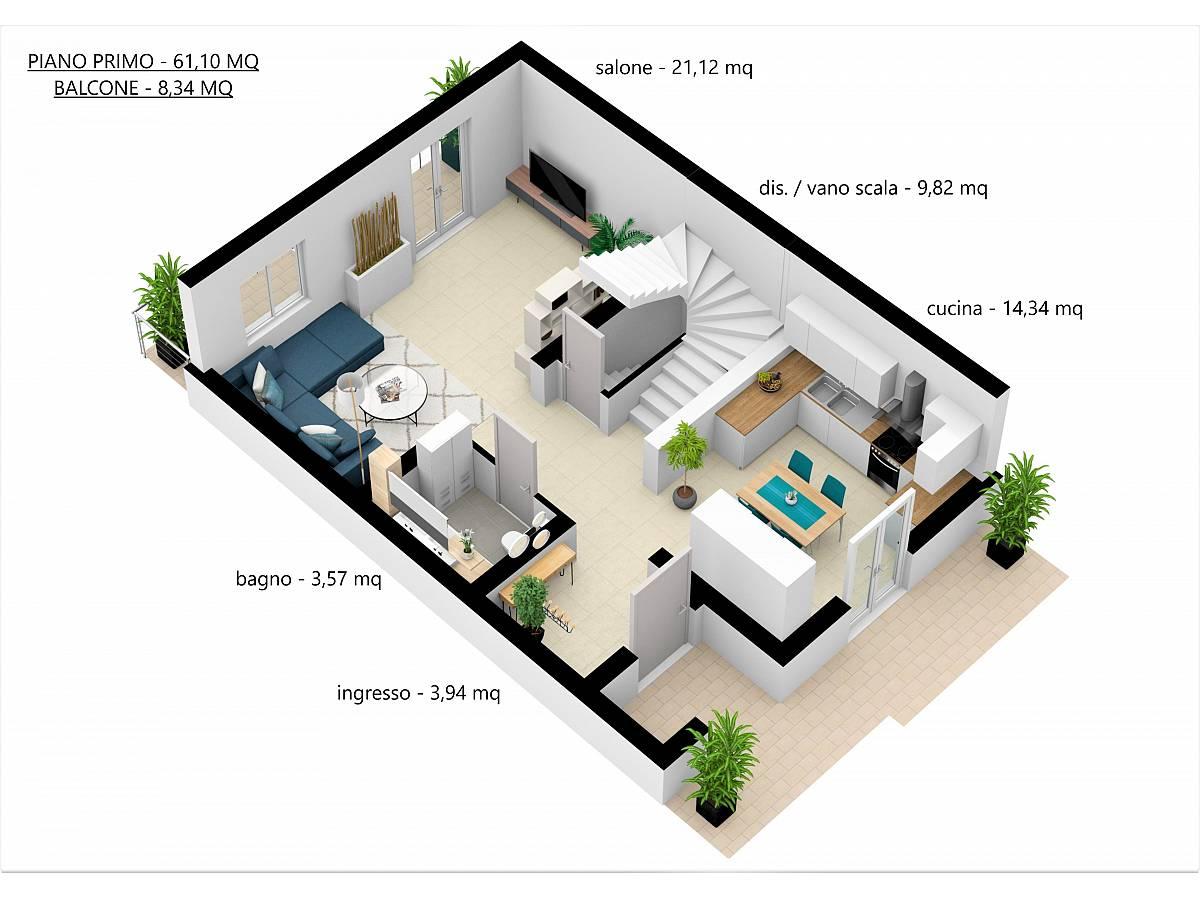 Villa a schiera in vendita in Via E. Berlinquer 26  a Loreto Aprutino - 3029384 foto 24