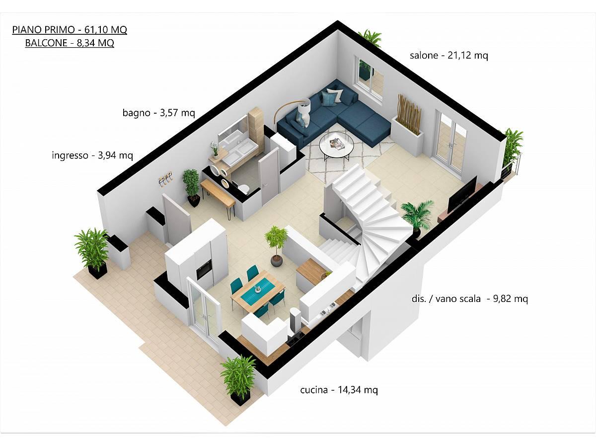 Villa a schiera in vendita in Via E. Berlinquer 26  a Loreto Aprutino - 3029384 foto 25