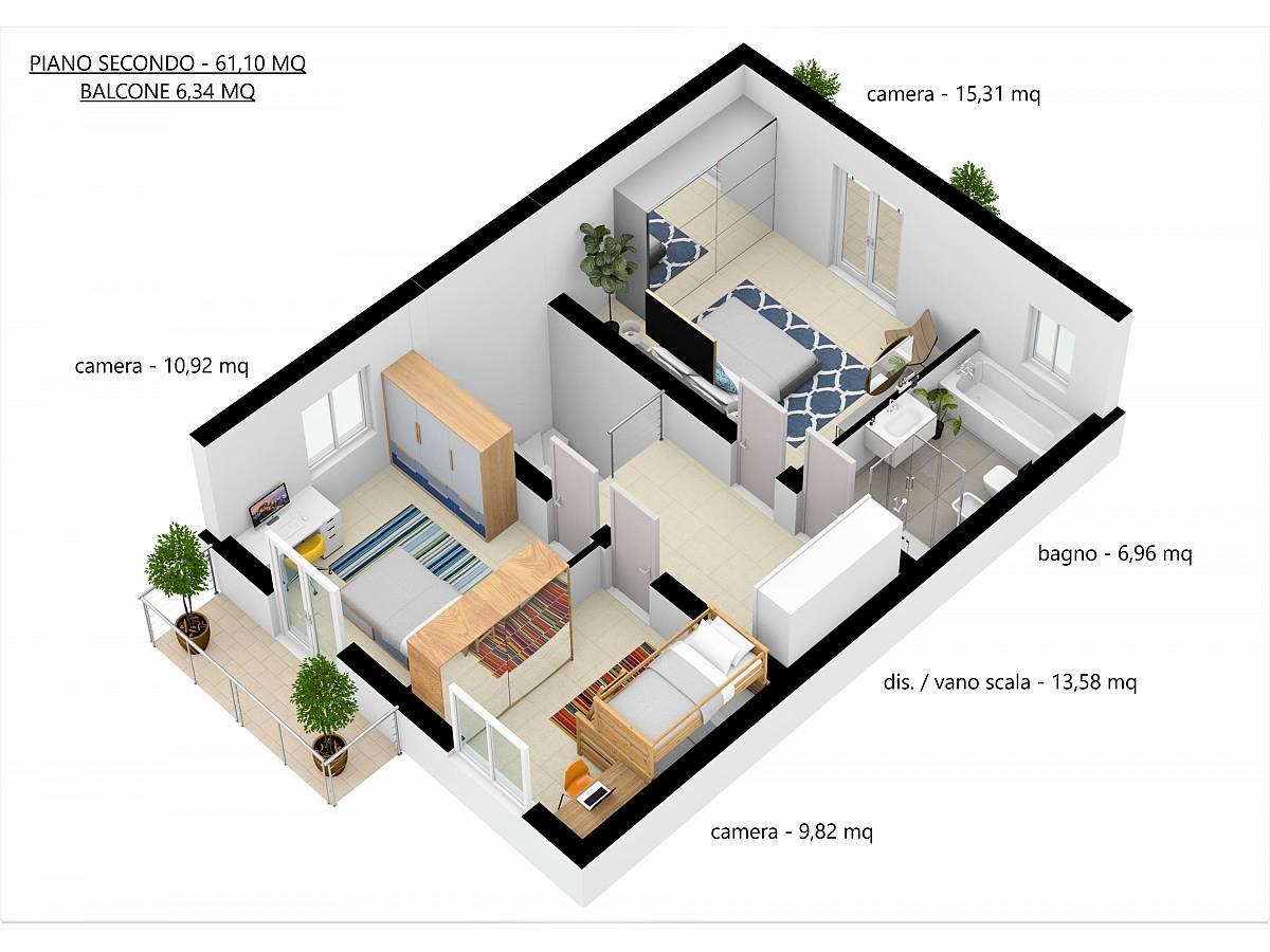 Villa a schiera in vendita in Via E. Berlinquer 26  a Loreto Aprutino - 3029384 foto 27