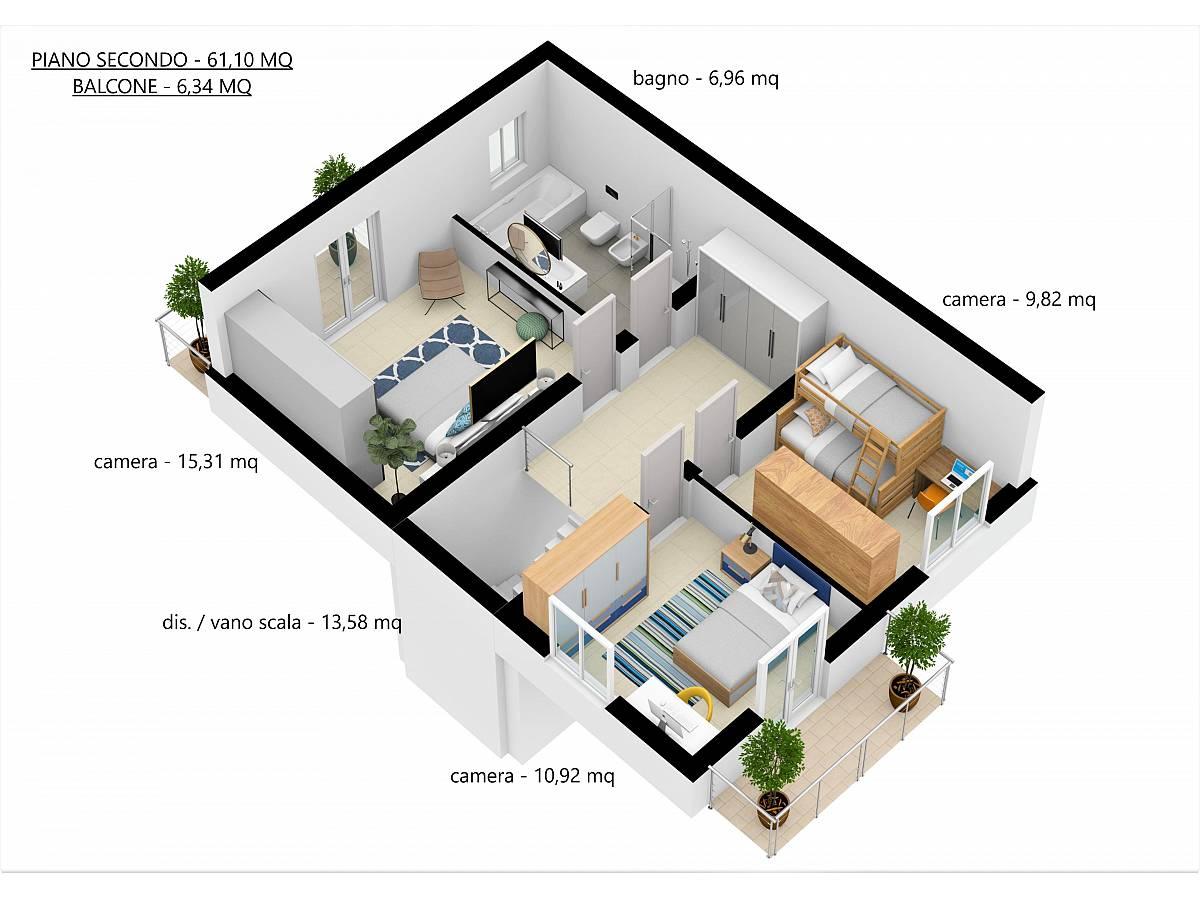 Villa a schiera in vendita in Via E. Berlinquer 26  a Loreto Aprutino - 3029384 foto 28