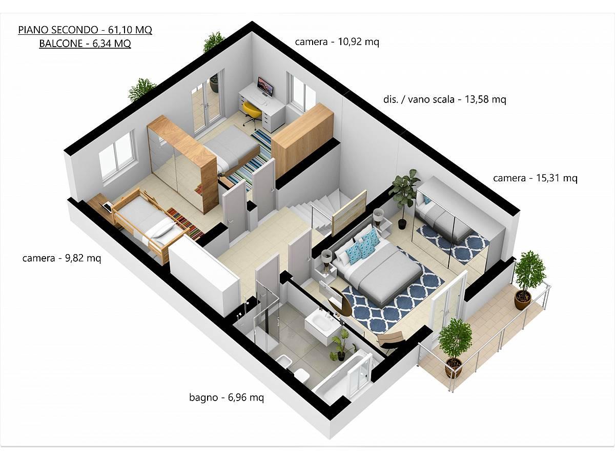 Villa a schiera in vendita in Via E. Berlinquer 26  a Loreto Aprutino - 3029384 foto 29