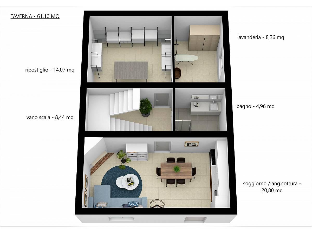Villa a schiera in vendita in Via E. Berlinquer 26  a Loreto Aprutino - 3029384 foto 16
