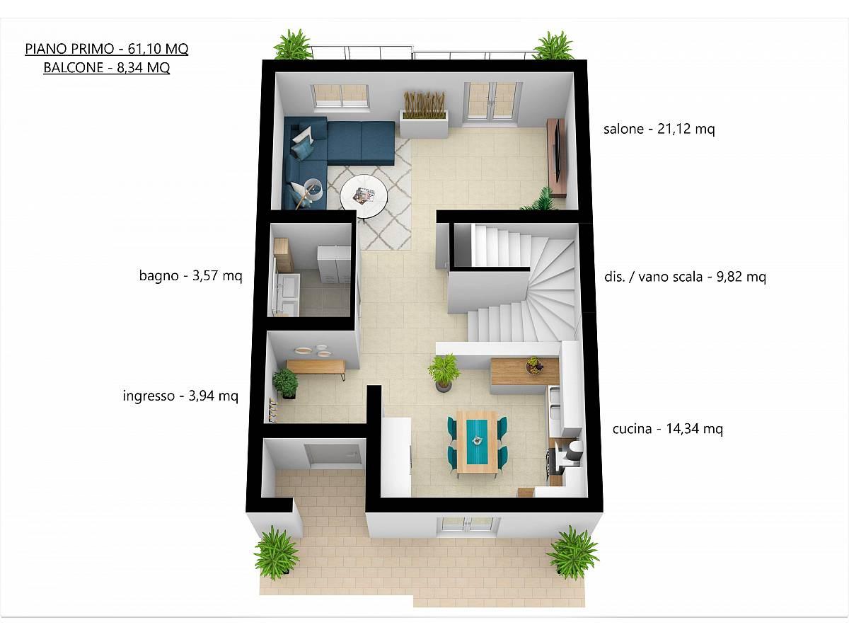 Villa a schiera in vendita in Via E. Berlinquer 26  a Loreto Aprutino - 3029384 foto 21