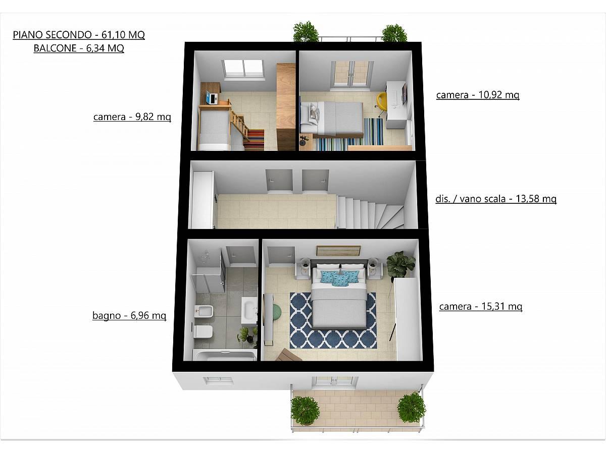 Villa a schiera in vendita in Via E. Berlinquer 26  a Loreto Aprutino - 3029384 foto 26
