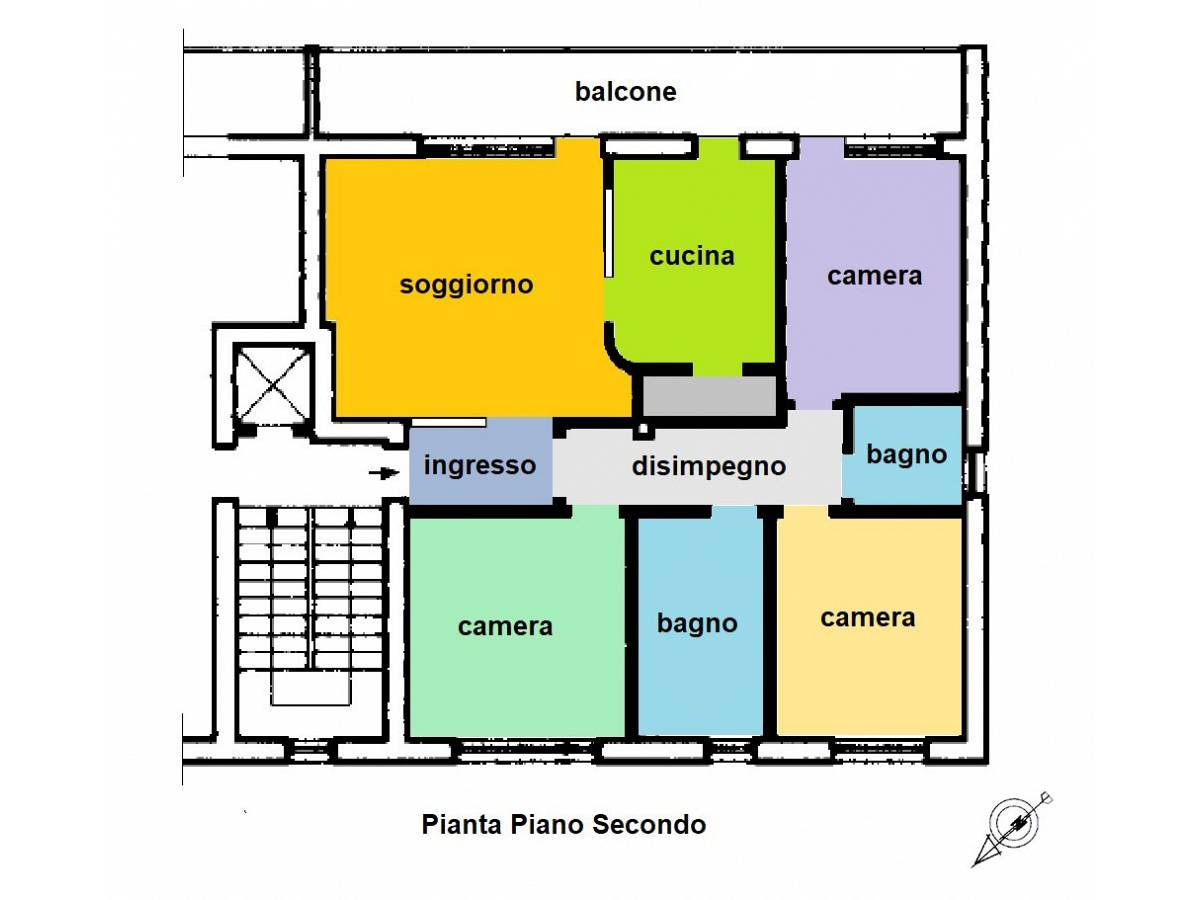 Appartamento in vendita in Via Gianni Marrone 11 zona Marina a Montesilvano - 5944278 foto 29